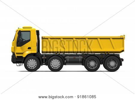 Yellow Tipper Dump Truck