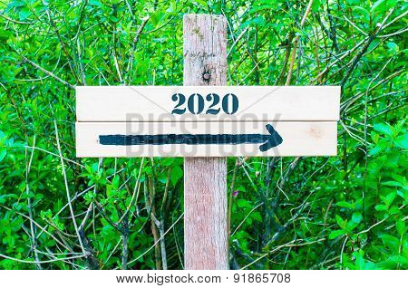 Year 2020 Directional Sign