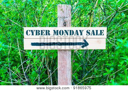 Cyber Monday Sale Directional Sign
