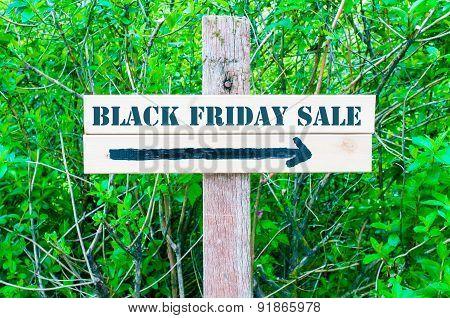 Black Friday Sale Directional Sign