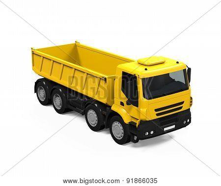 Yellow Tipper Dump Truck