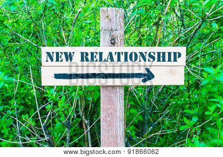 New Relationship Directional Sign