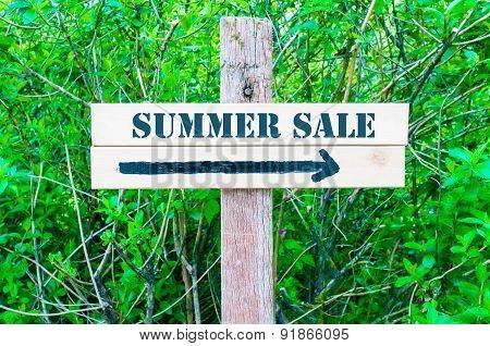 Summer Sale Directional Sign