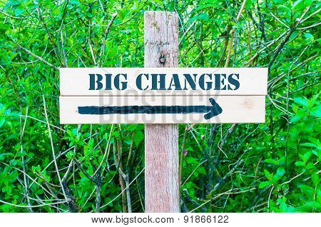 Big Changes Directional Sign