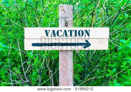 Vacation Directional Sign