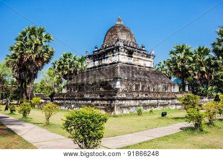 Laos Temple -vat Visounnarath In Luang Prabang, Laos