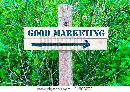 Good Marketing Directional Sign