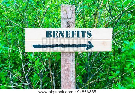 Benefits Directional Sign