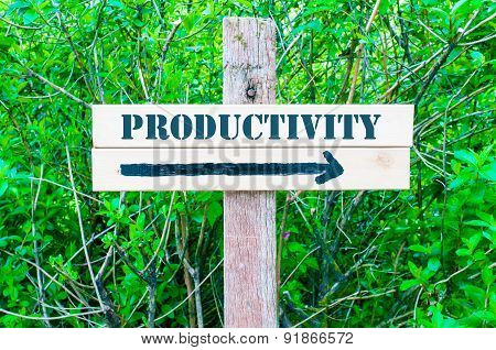 Productivity Directional Sign