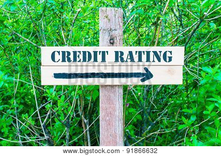 Credit Rating Directional Sign