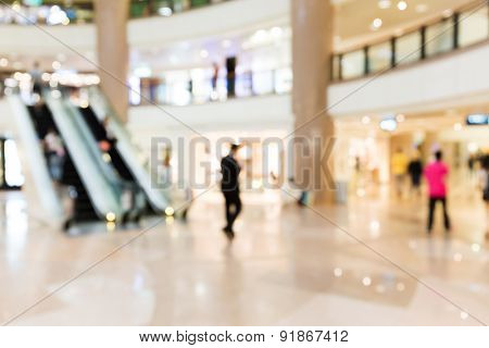Blur background of department store
