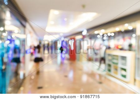 Store, shopping mall abstract defocused blurred background