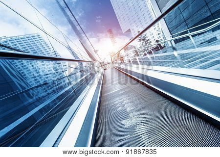 fast escalator and sunbeam