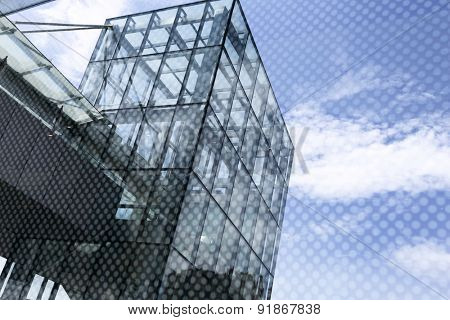 low angle view of office building exterior