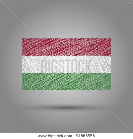 Flag of Hungary. Grunge texture.