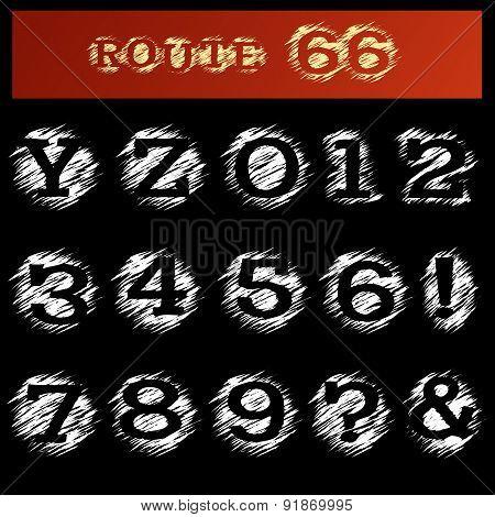 Grunge Alphabet Y and Z
