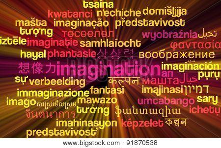 Background concept wordcloud multilanguage international many language illustration of imigination glowing light