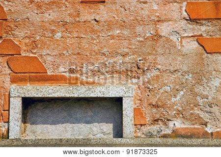 Milan  In Italy Old Church Concrete Wall  Brick   The    Abstract