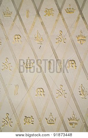 Wall Milan  In Italy Old   Crown  Abstract  Background  Mosaic Stone