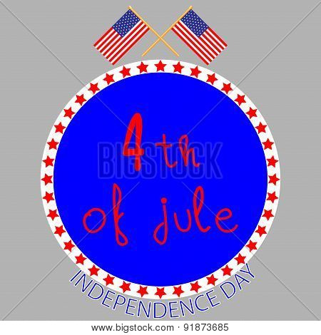 Badge Independence Day
