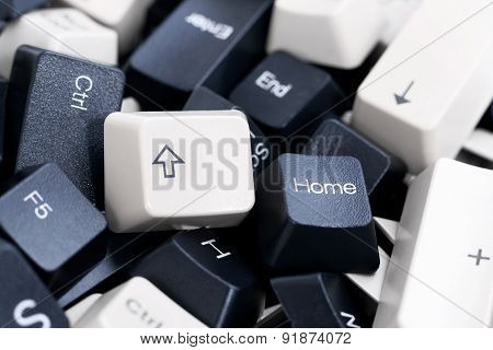 Pile Of Black And White Computer Keyboard Keys