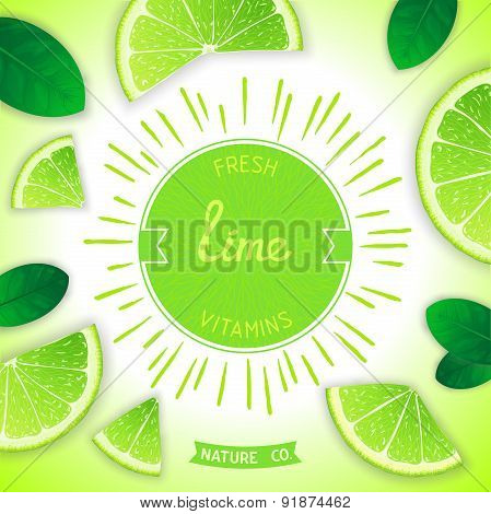Fresh lime vitamins