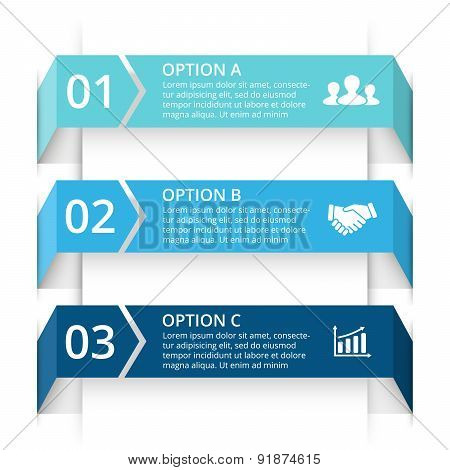Vector arrows infographic. Template for diagram, graph, presentation and chart. Business concept wit