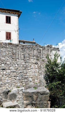 Buzet Fortress Wall