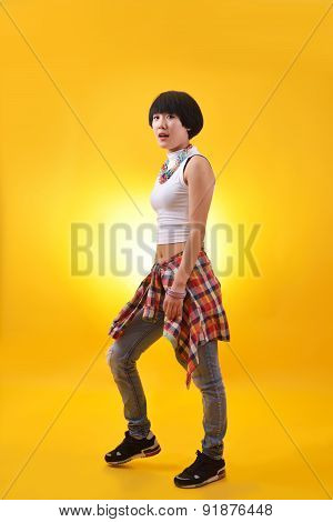 Aerobic Dancer Dancing