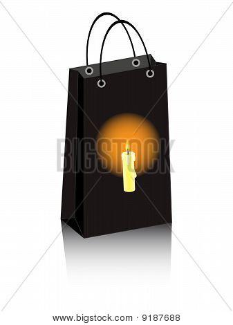 Halloween Bag Candle
