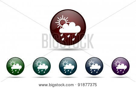 rain icon waether forecast sign