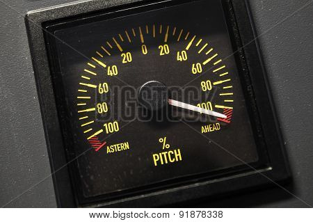 Lighted Navigation Pitch Indicator Scale