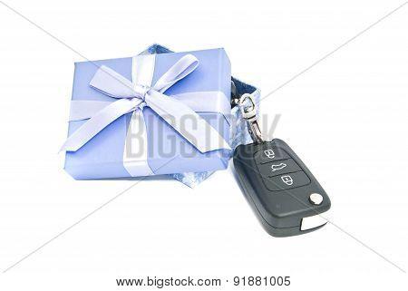 Gift Box And Car Keys