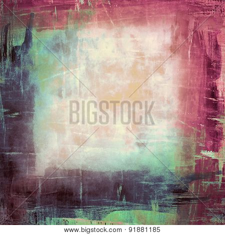 Colorful abstract grunge collage background with cloud