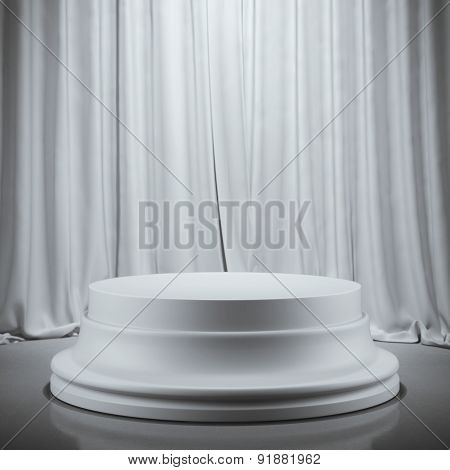 Empty plaster showcase. 3d rendering