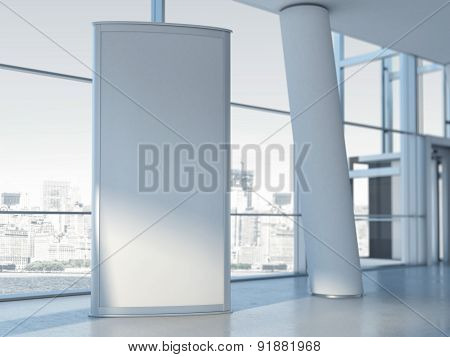 Blank advertising panel. 3d rendering