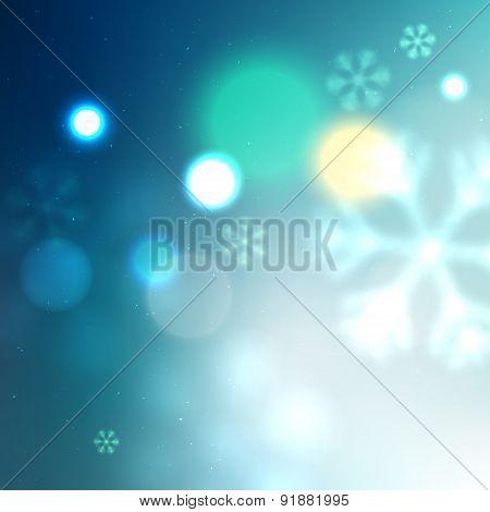 Winter Illuminated Blue Background