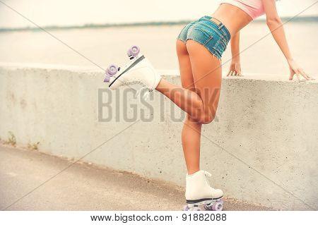 Beauty In Roller Skates.