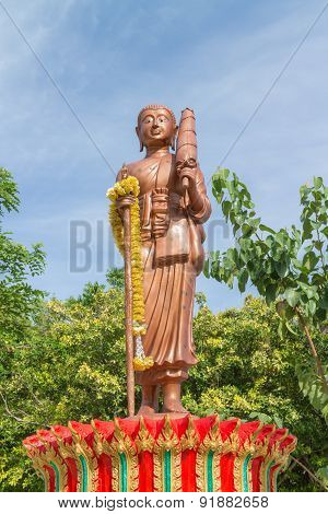 monk statue for katyayana