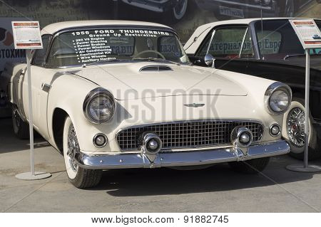 Old car Ford Thunderbird 1956 release