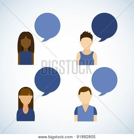 Social network design over gray background vector illustration