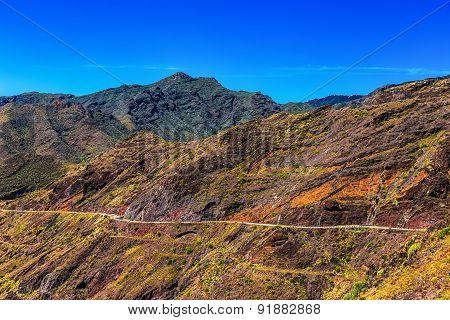 Winding Or Serpantine Road In Mountain