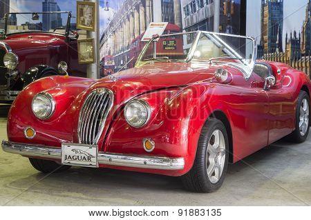 Retro car Jaguar XK120 1951 release
