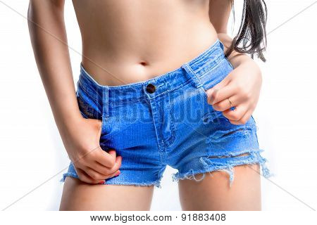 Girl And Her Shorts
