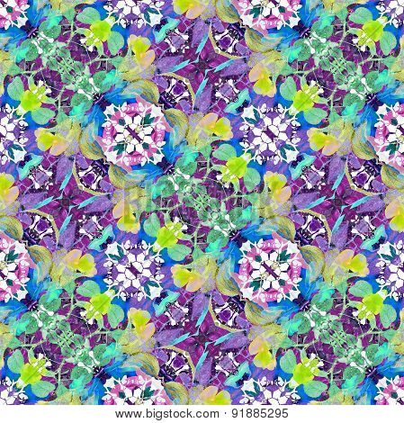 Colorful Modern Floral Pattern