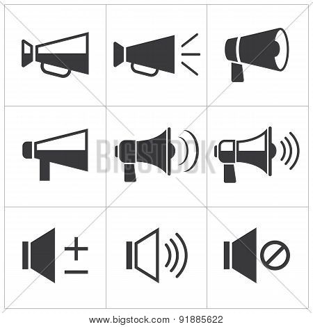 Set Of Megaphone Icon