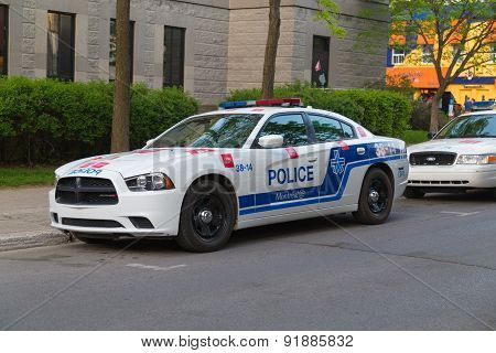 Police Car In Montreal