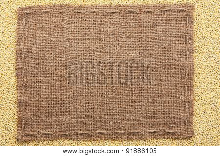 Classical Frame On Millet Grain