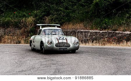 old car MERCEDES BENZ  300 SL W 194  1952   mille miglia 2015