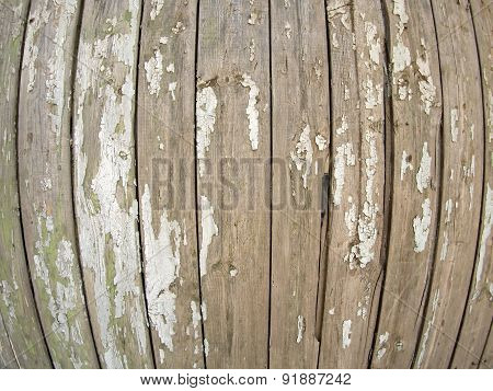 Old Wooden Fence With Exfoliated Paint